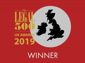 Legal 500 awards 2019 winner