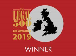 Legal 500 awards 2019 winner